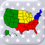 50 US States Map, Capitals & Flags – American Quiz (MOD, Unlimited Money) 3.3.0