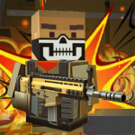 Blocky shooting war game: combat cubic arena (MOD, Unlimited Money) 1.10