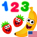Funny Food 123! Kids Number Games for Toddlers (MOD, Unlimited Money) 2.4.0.2