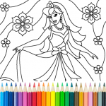 Princess Coloring Game (MOD, Unlimited Money) 14.8.0