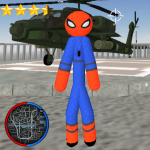 Stickman Spider Rope Hero Gangstar Crime (MOD, Unlimited Money) 1.2
