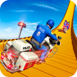 Police Bike Mega Ramp Impossible Bike Stunt Games (MOD, Unlimited Money) 1.9