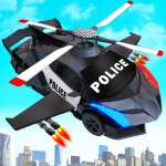 Flying Police Helicopter Car Transform Robot Games (MOD, Unlimited Money) 27