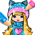 Girls Coloring Book for Kids Glitter (MOD, Unlimited Money) 1.1.6.1