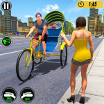 Bicycle Tuk Tuk Auto Rickshaw : New Driving Games (MOD, Unlimited Money) 1.6
