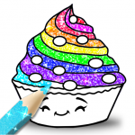 Cupcakes Coloring Book Glitter (MOD, Unlimited Money) 2.3