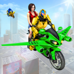 Flying Robot Bike Taxi Simulator-Bike Driving Game (Premium Cracked) 1.0.6