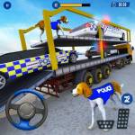US Police Multi Level Car Transporter Truck 2020 (Premium Cracked) 5