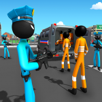 US Police Stickman Criminal Plane Transporter Game   (MOD, Unlimited Money) 4.7
