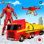 Flying Oil Tanker Robot Truck Transform Robot Game (MOD, Unlimited Money) 13