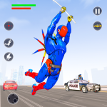 Flying Robot Rope Hero – Vegas Crime City Gangster (MOD, Unlimited Money) 3.0