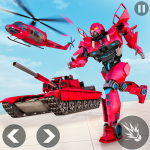 Helicopter Transform War Robot Hero: Tank Shooting (MOD, Unlimited Money) 1.1