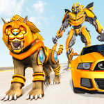 Lion Robot Car Transforming Games: Robot Shooting (Premium Cracked) 1.2
