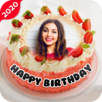 Name Photo On Birthday Cake – Birthday Photo Frame (Premium Cracked) 28.4.4