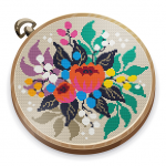 Cross Stitch Club — Color by Numbers with a Hoop  1.4.33