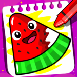Fruits Coloring book & Food Drawing book Kids Free (MOD, Unlimited Money) 1.4