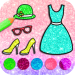 Dress Coloring Book With Glitter Color (MOD, Unlimited Money) 4.0