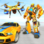Drone Robot Car Game – Robot Transforming Games (MOD, Unlimited Money) 1.2.3