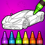 🚗 Learn Coloring & Drawing Car Games for Kids  🎨 (MOD, Unlimited Money) 7.0