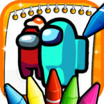 Among Us Coloring Book (MOD, Unlimited Money) 2
