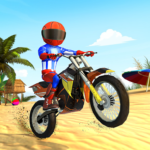 Beach Bike Stunts: Crazy Stunts and Racing Game   (MOD, Unlimited Money) 5.2