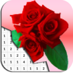 Rose Flowers Coloring By Number – Pixel Art (MOD, Unlimited Money) 5.0