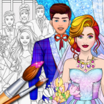 Wedding Coloring Dress Up – Games for Girls (MOD, Unlimited Money) 1.1