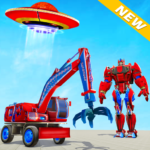 Excavator Robot Car Game – Elephant Robot Games 3d   (MOD, Unlimited Money) 1.2.0