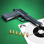 Pistol shooting at the target.  Weapon simulator (MOD, Unlimited Money) 4.8
