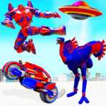 Flying Ostrich Robot Transform Bike Robot Games  (MOD, Unlimited Money) 38