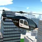 Police Helicopter City Flying (MOD, Unlimited Money)